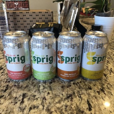 sprig cbd infused drink